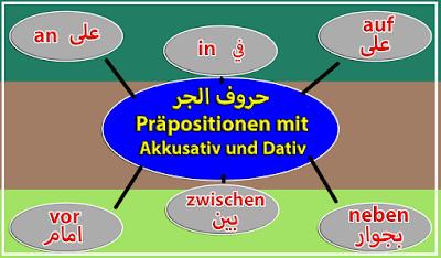 شرح مفصل لدرس احرف الجر مع الاكوزاتيف والداتيف Präpositionen mit Akkusativ und Dativ