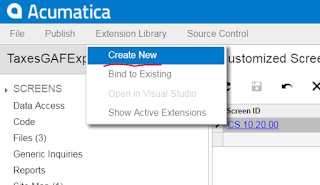 Acumatica Customization Browser