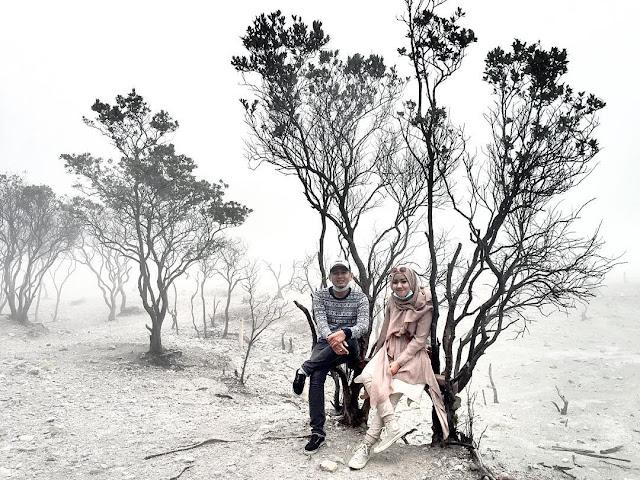 foto romantis di kawah putih ciwidey bandung