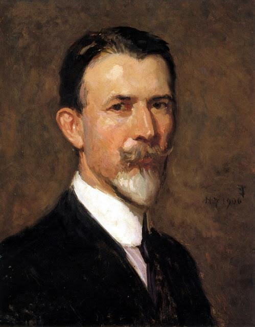 Charles H. Woodbury, Self Portrait, Portraits of Painters, Charles Herbert Woodbury, Fine arts, Portraits of painters blog, Paintings of Charles H. Woodbury, Painter Charles H. Woodbury