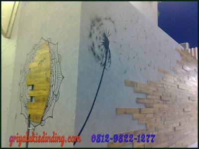 Lukis dinding cafe keren harga murah