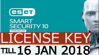 eset smart security 10 license key 2018