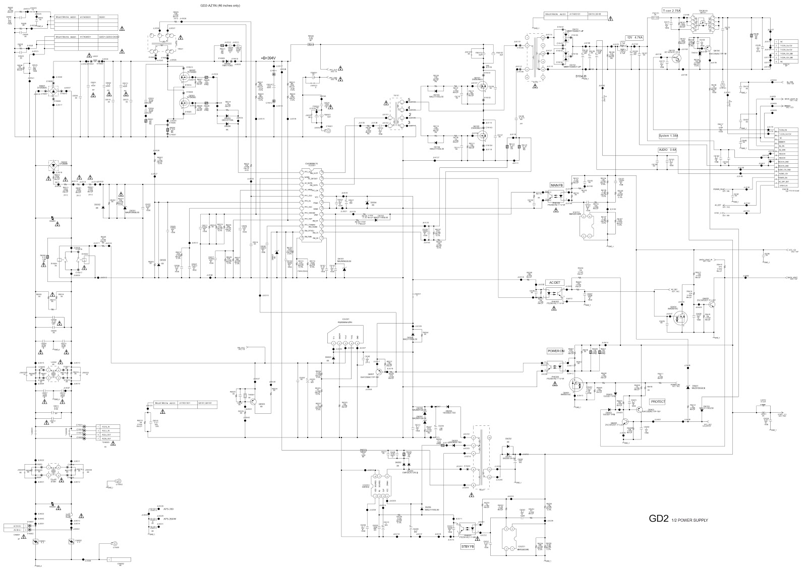 Sony KDL32EX402, Sony KDL40EX402 – UK model LCD TVs – Power board ...