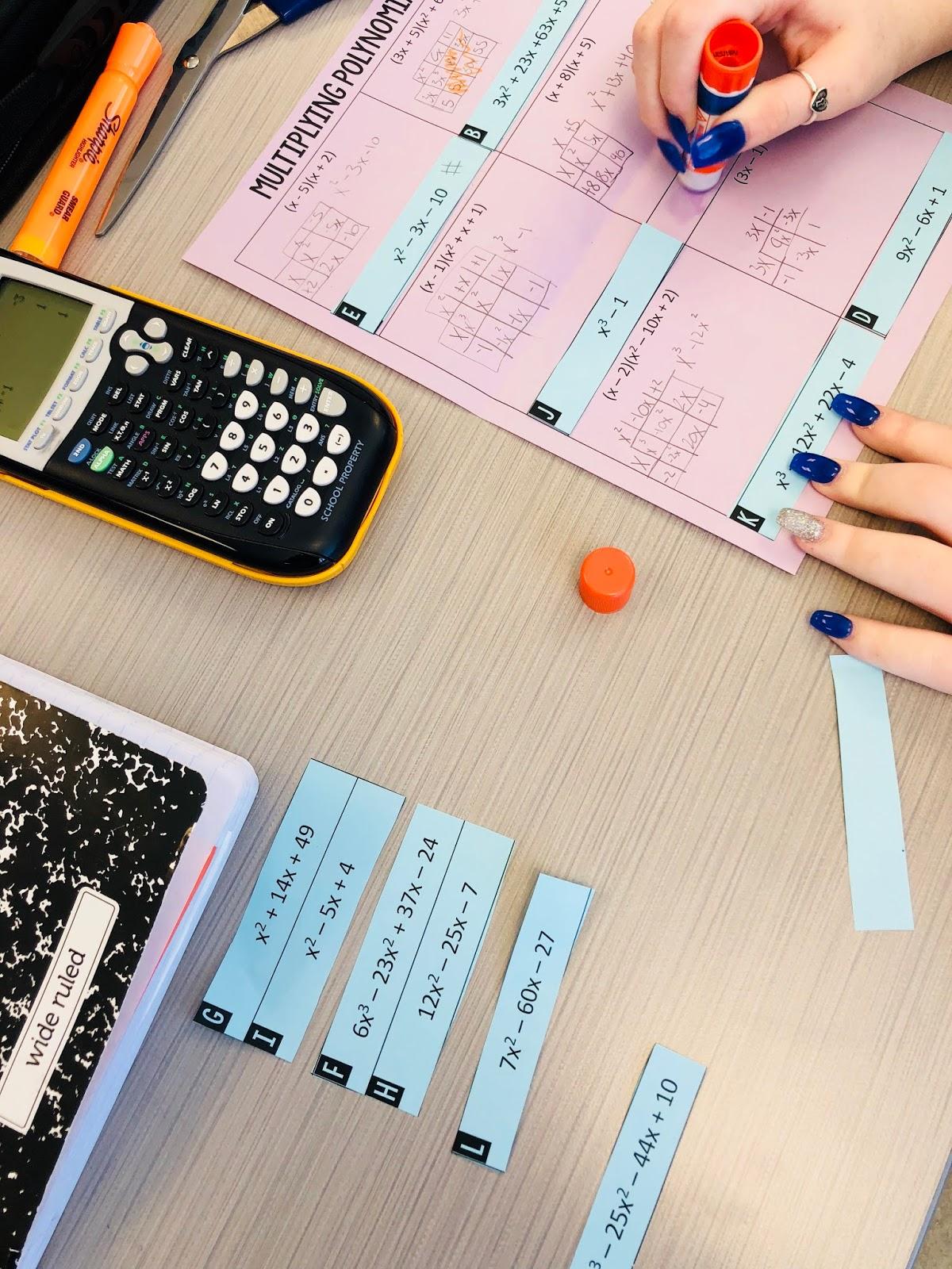 Multiplying Polynomials Activity Mrs Newells Math