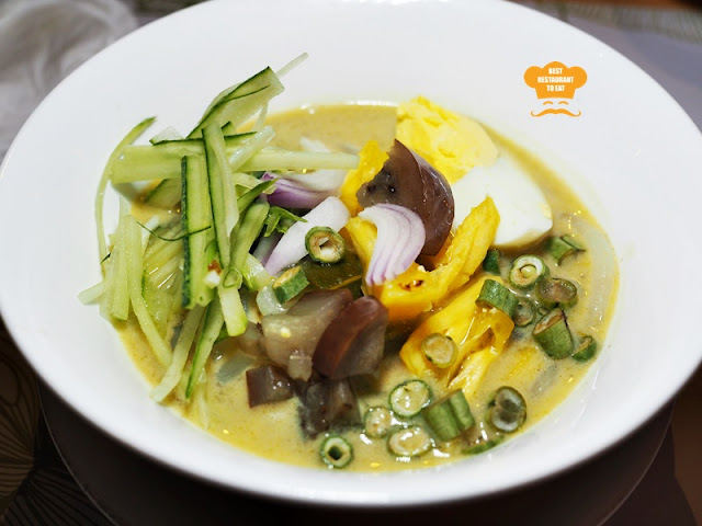 Green Curry Laksa with Condiment  Putrajaya Ramadhan 2018 Buffet - Aroi Dee