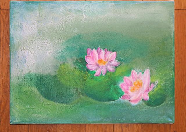 Lily pond - Daniela Rogall für PanPastel BNL
