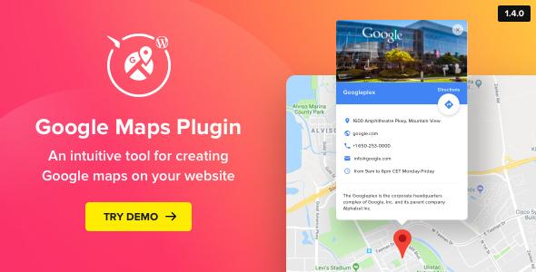 WP Google Maps v1.4.0 - Map Plugin for WordPress