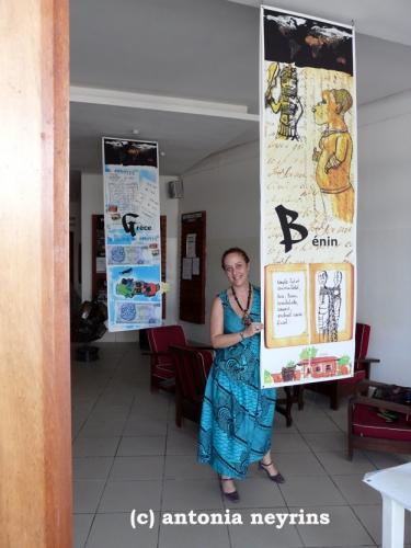 exposition carnet de voyage carnets antonia neyrins rencontre atelier institut français cotonou bénin