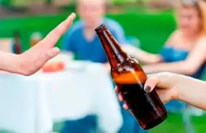 2. Abstain from alcohol: