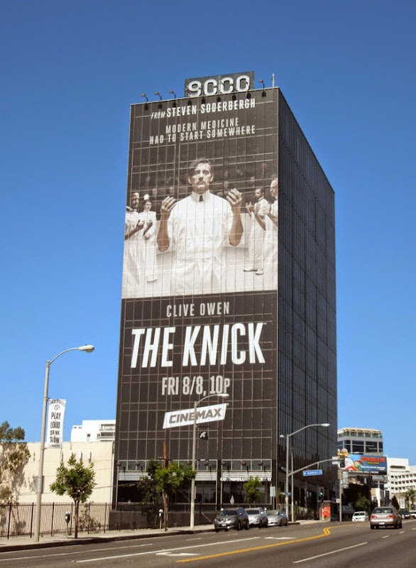 The Knick series launch giant billboard