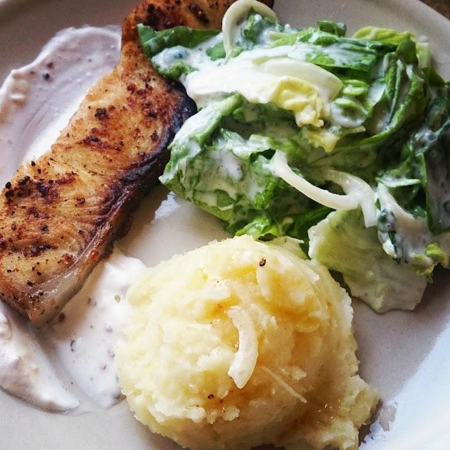 Filet z rekina i stek z tuńczyka