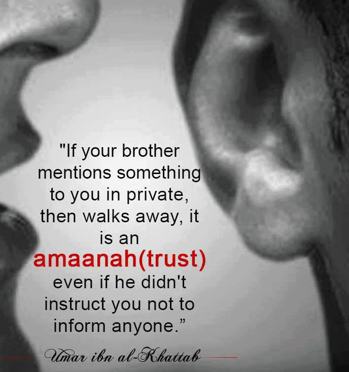 Islamic Quotes : If your brother mentions something you in private
