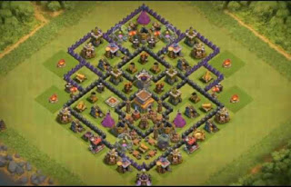 Base Clash of Clans Town Hall 8 Tipe Trophy Terbaik 2017