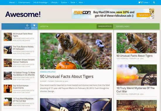 Awesome Mag Blogger Template