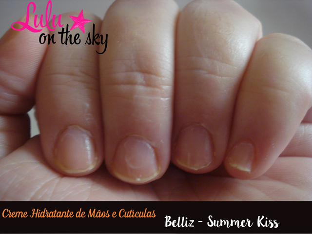 Creme Hidratante para mãos e cutículas Belliz - Summer Kiss - blog lulu on the sky