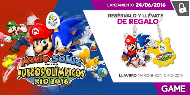 Desvelado el obsequio por reserva de GAME para Mario & Sonic en los juegos olímpicos de río 2016 1