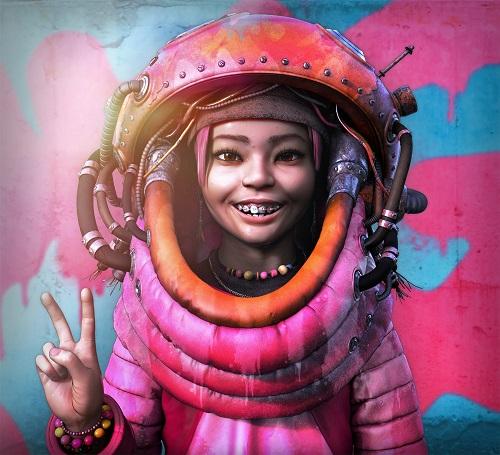 """KEIKO"" - OOMOU characters by Andy Lee | imagenes chidas de arte digital, personajes de novela grafica, comic | fantasia futurista"