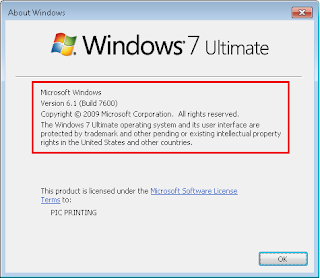 Cara alternatif Mengetahui Versi Windows 7