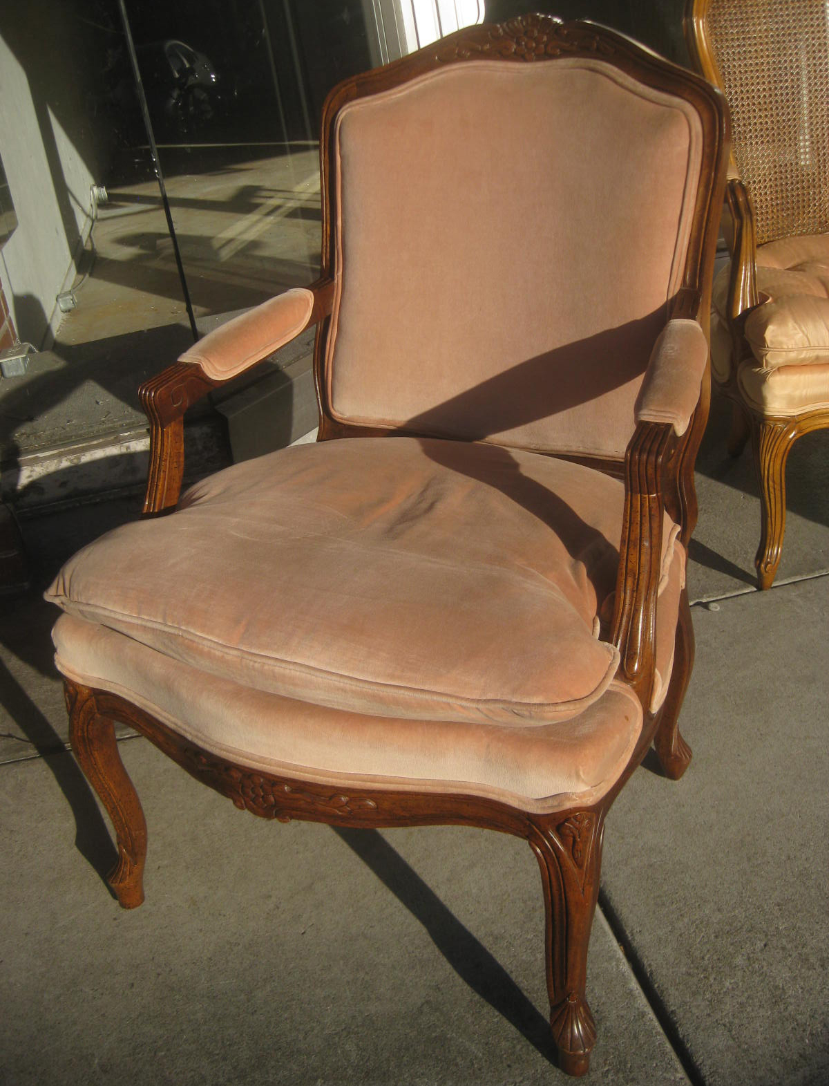 French Provincial Adele Occasional Chair Cheap Lounge Cushions Uhuru Furniture And Collectibles Sold