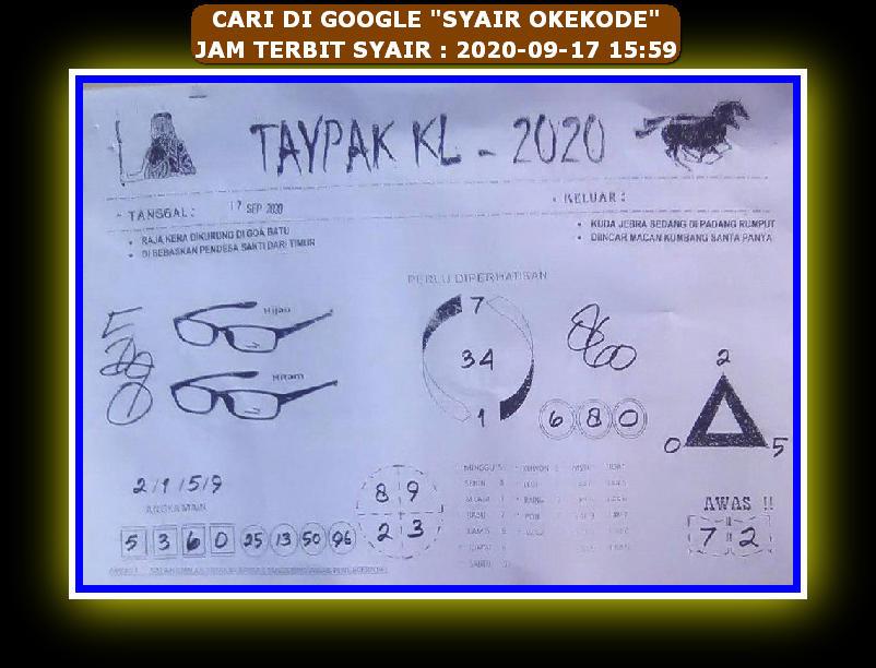 Kode syair Hongkong Kamis 17 September 2020 84