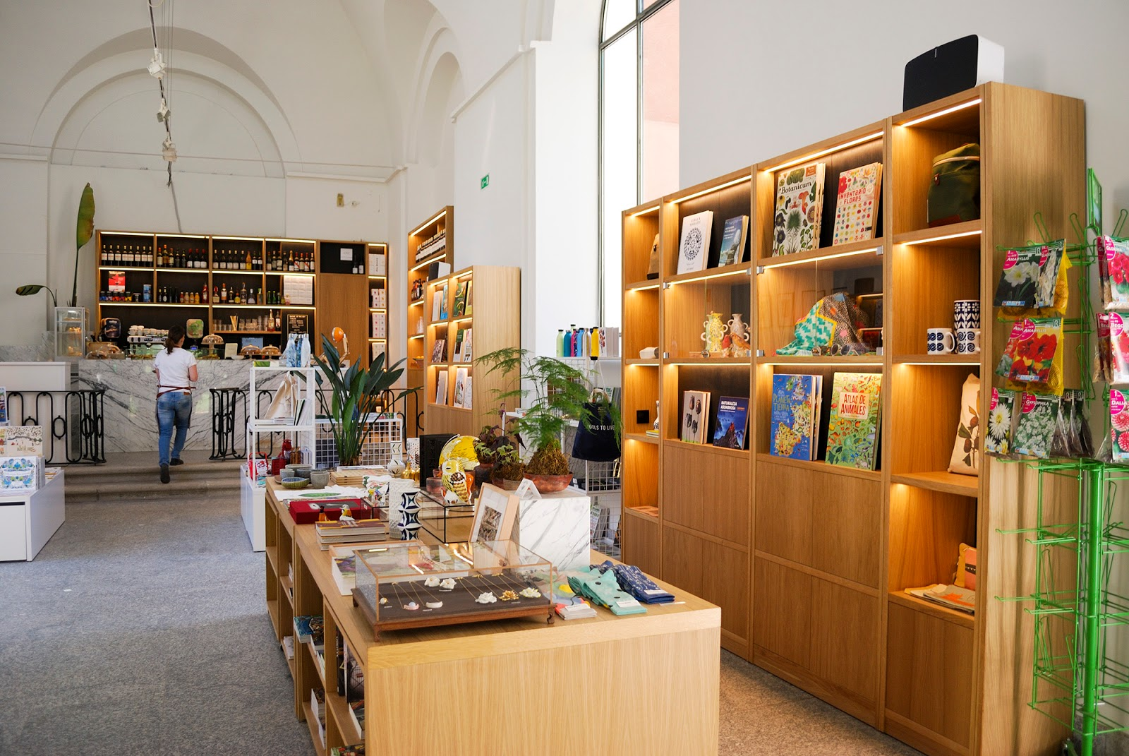 La Catedra cafe shop Royal Botanic Gardens Madrid Spain