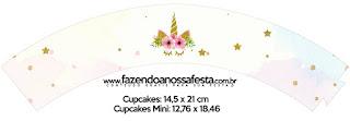 Wrappers para Cupcake de Fiesta de Unicornios para Imprimir Gratis.