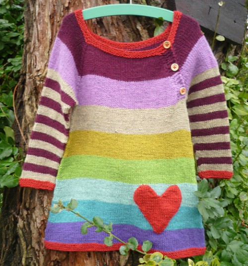 Rainbow Dress - Knitting Pattern