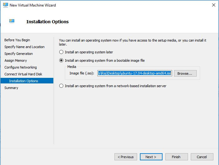 Select the ISO for installation