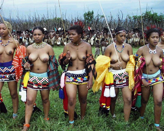 South african reed dance girls