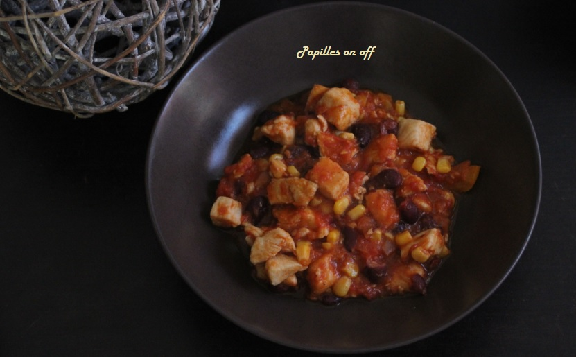Chili de poulet au thermomix tm5 papilles on off - Recette chili thermomix ...
