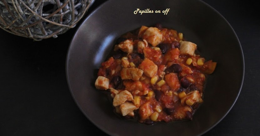 Papilles on off chili de poulet au thermomix tm5 - Recette chili thermomix ...
