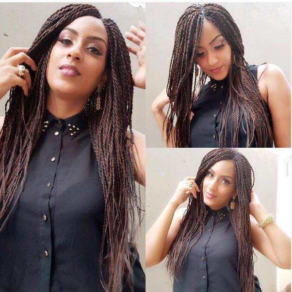 Juliet Ibrahim looks pretty as she ditches her lowcut for braids