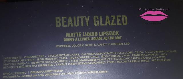 ingredientes labiales mate beauty glazed