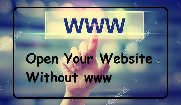 Website (Blog) Ke Domain Ko Without www Kaise Set Kare