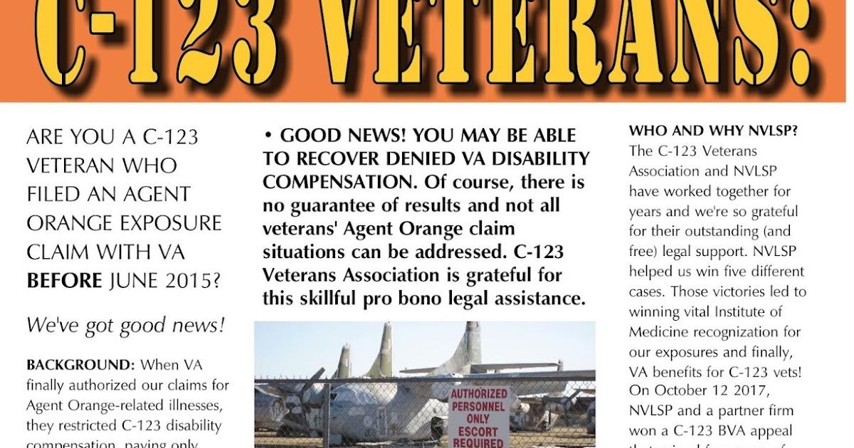 Agent Orange - C-123K Aircrew & Maintainers - VA now honors