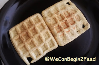 Just cooked waffles