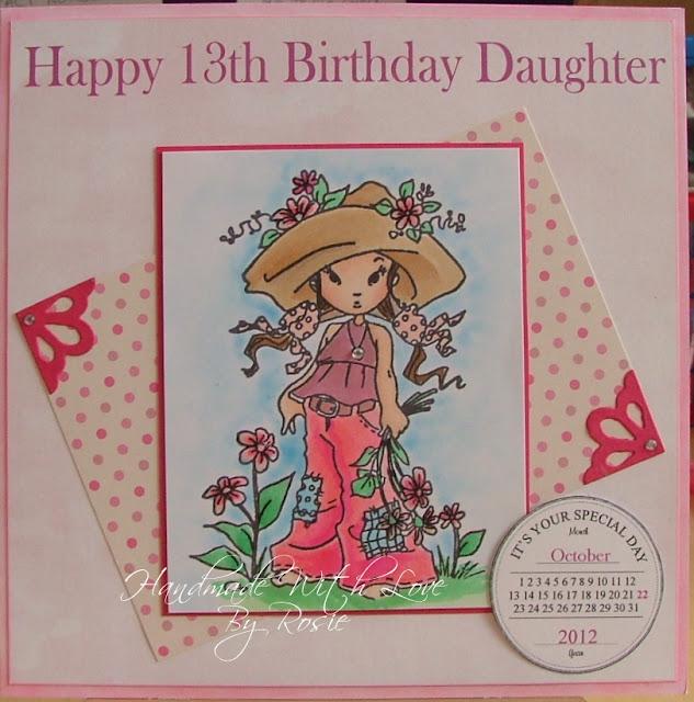 Rosie's Cards: Happy 13th Birthday