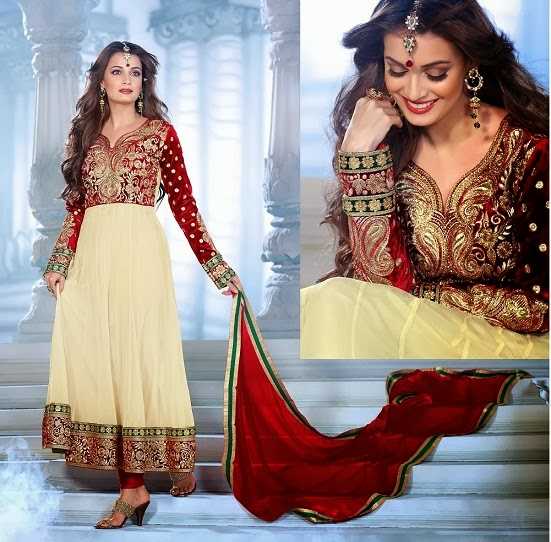 9980509537 Sizzling Diya Mirza in Latest Indian Designers Party Wear Fancy ...