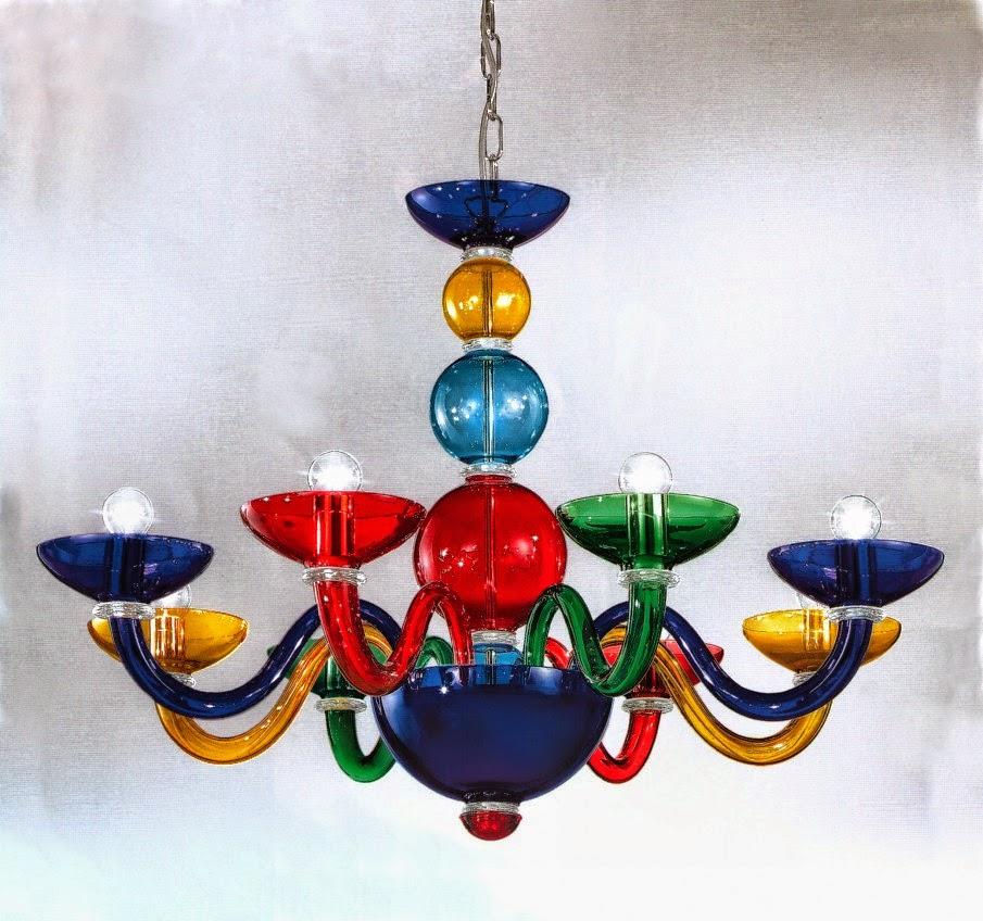 Ricambi per lampadari in vetro di Murano e Specchi Ricambi per lampadari di murano moderni colorati