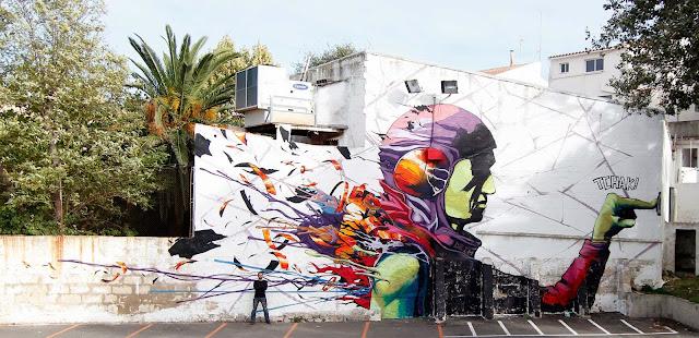 Street Art By Spanish Artist Deih For Mô Art Urbâ Interactiu on Menorca Island, Spain 1
