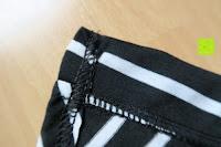 Nähte: AIYUE Frauen Monochrom Streifen mit kurzen Hülsen Etuikleid Figurbetontes Kleid Partykleid Clubwear
