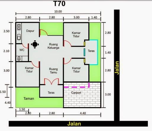 Gambar Rumah  Minimalis Denah Dan Model Rumah  Minimalis