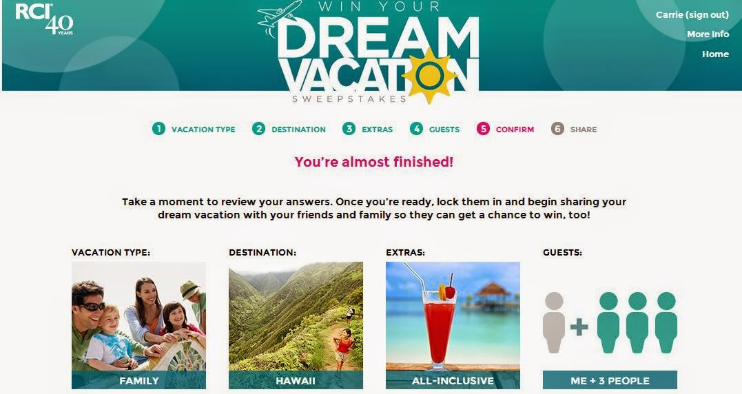 The Vacation of Your Dreams Might Be a Few Clicks Away in the RCI Win Your Dream Vacation Sweepstakes! Ends 6/18  #RCIDreamVacay