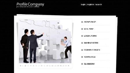 Free Profile Company Black Joomla 2.5 Template