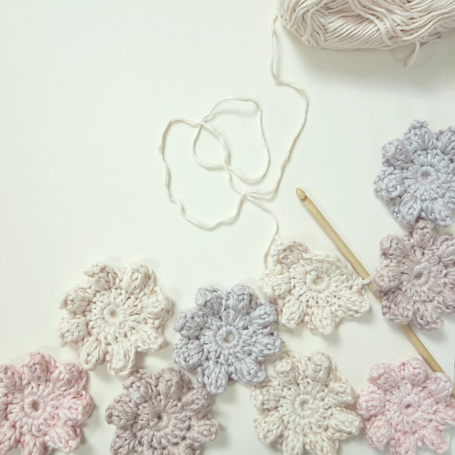 byHaafner, crochet, flower, pastel, bamboo yarn