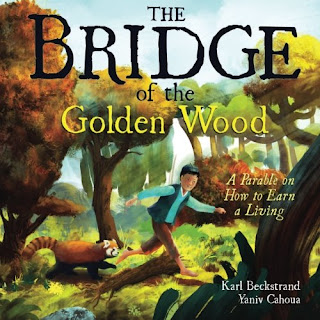 The Bridge of the Golden Wood - A resourceful boy who loves to make things meets an old woman near a stream. The old woman points out a problem fish are having: old sticks piled up in the river are not allowing the fish to get upstream to eat. But, she also tells the boy that the sticks are treasure and worth as much as gold. Though the woman disappears before the boy understands, he decided to help the fish anyway and clear the sticks. As he finishes, the boy discovers how those sticks are as valuable as gold.