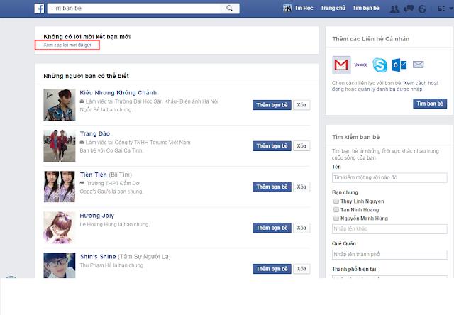 thủ thuật tin học , itkyc , cách xem ai đã từ chối kết bạn trên facebook