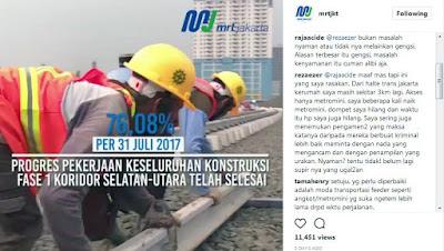 MRT Jakarta Keluhan Calon Penumpang Bekerja Bersama #UbahJakarta