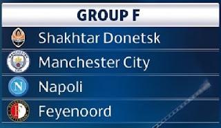 Champions League, Napoli, Manchester City, Shakhtar Donetsk, Feyenoord,