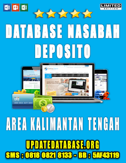 Jual Database Nasabah Deposito Kalimantan Tengah